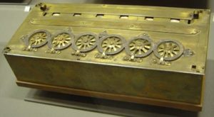 Pascal's machine performing subtraction and summation – 1642