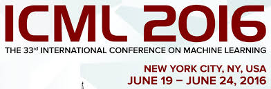 2016 ICML Accepted Paper @ NYC , 2016 ICML 论文收录 纽约